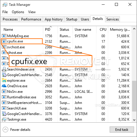 What is CpuFix.exe?