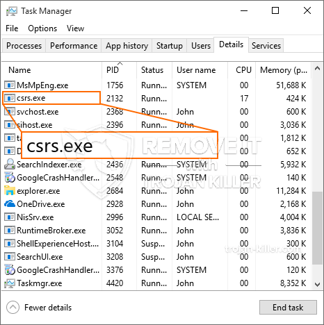 What is Csrs.exe?