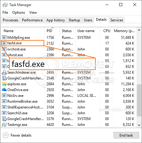 What is Fasfd.exe?