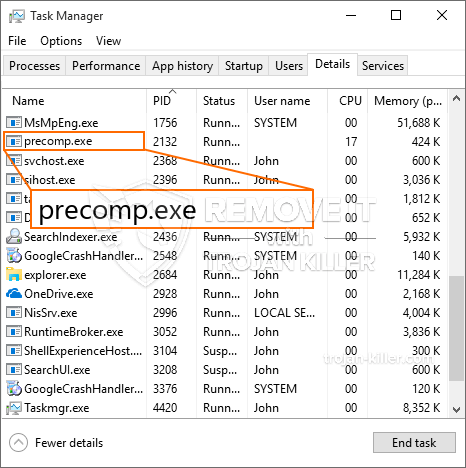 What is Precomp.exe?