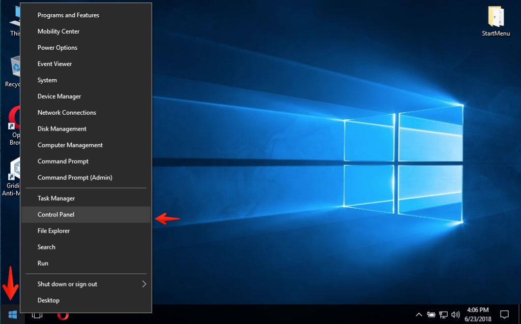 How to start Control Panel in Windows