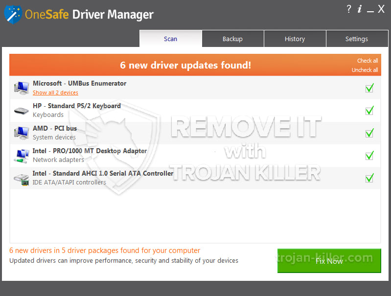 remove OneSafe Driver Manager