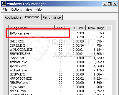 SOLVED!] How to remove TiWorker.exe trojan coin miner? (High CPU