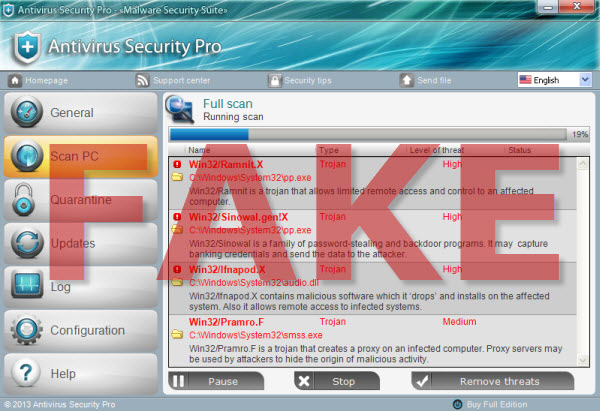 Antivirus Security Pro screenshot