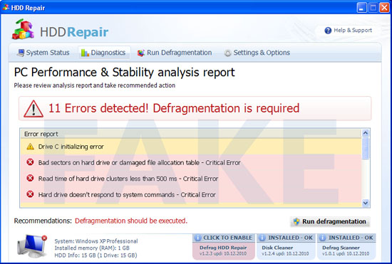 HDD Repair virus