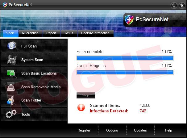 PcSecureNet - fake scaner