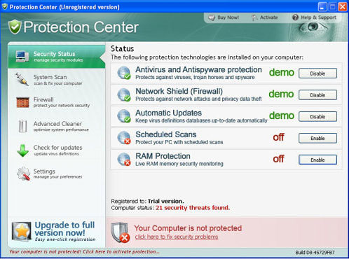 Protection Center viruses
