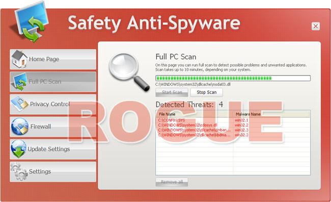 Safety Anti-Spyware - fake scanner