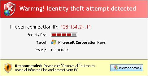 Security Antivirus alert
