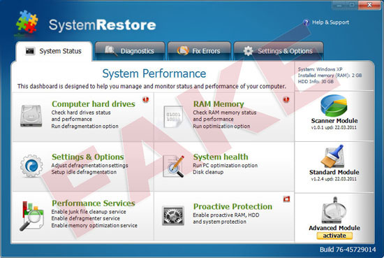 System Restore virus
