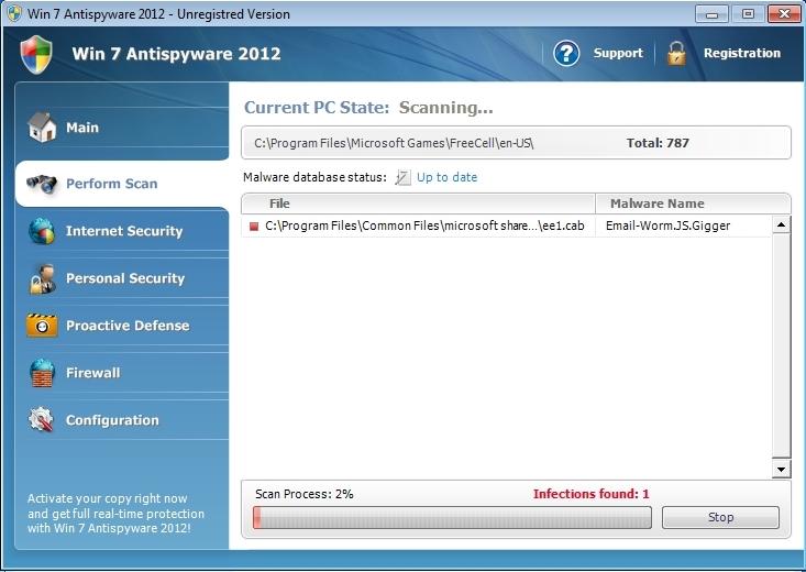 Vinde 7 Antispyware 2012