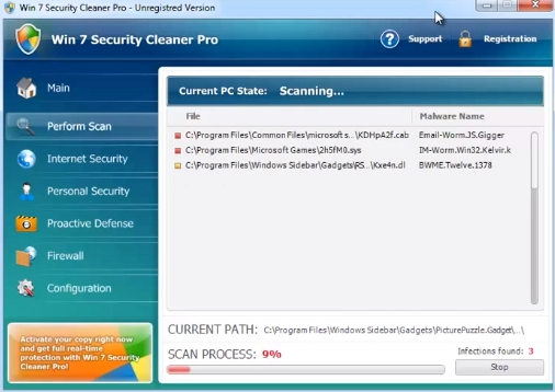 Win 7 Security Cleaner Pro