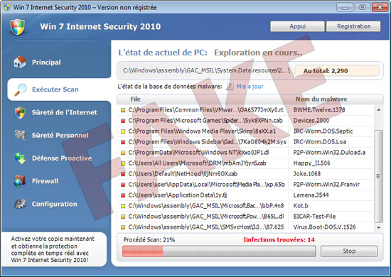 Win7 Internet Security 2010