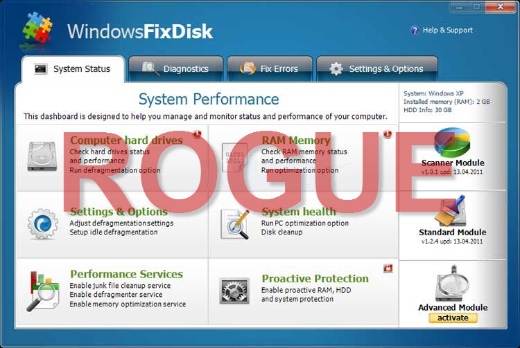 Windows Fix Disk virus