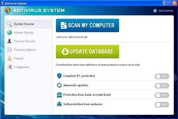 Antivirus System malware