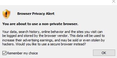 Browser Privacy Alert