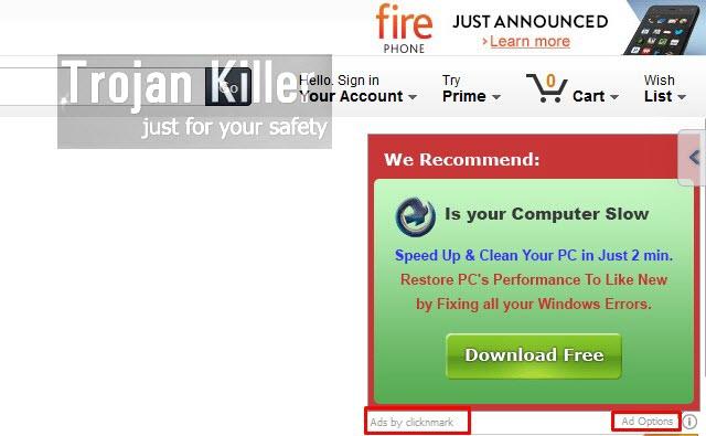 Clicknmark adware