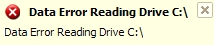 Data Error Reading Drive C:\