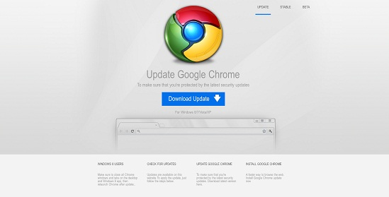Fake Google Chrome Update