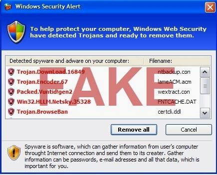 Fake Windows Security Alert
