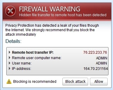 Fake Firewall Warning