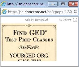 Jsn.donecore.net popup