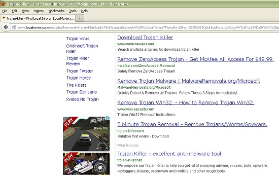 Loxalmoxie.com browser redirection