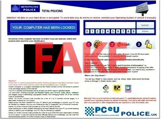 Metropolitan Police Total Policing virus