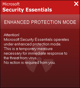 Microsoft Security Essentials Enhanced Protection Mode