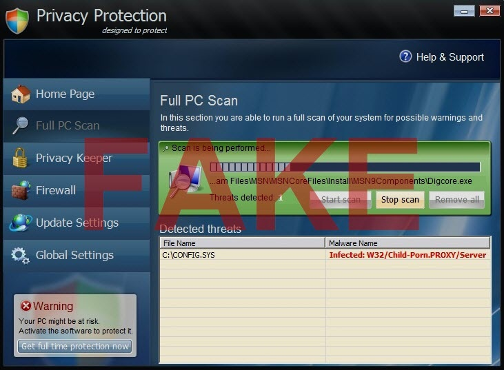 Privacy Protection virus