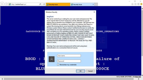 rockno5.xyz Security Issue 0800-015-4654 scam