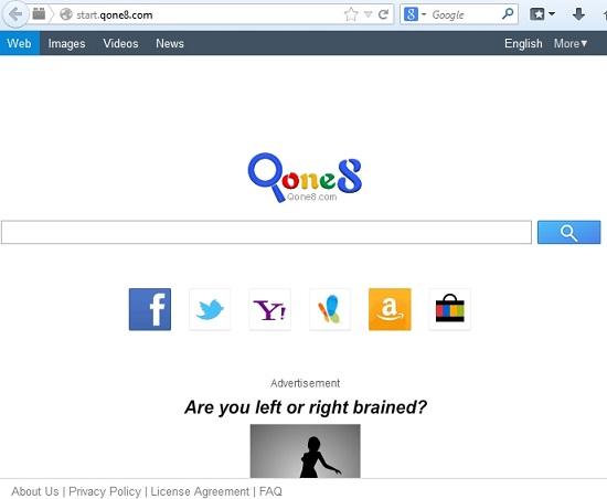 Start.qone8.com pirate de navigateur