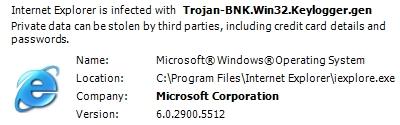 Trojan-BNK.Win32.keylogger.gen scam