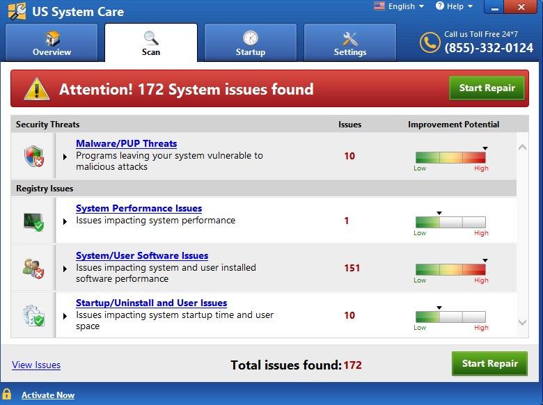 US System Care virus