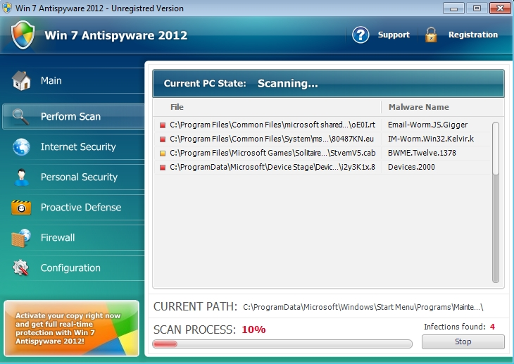 Win 7 Antispyware 2012 malware