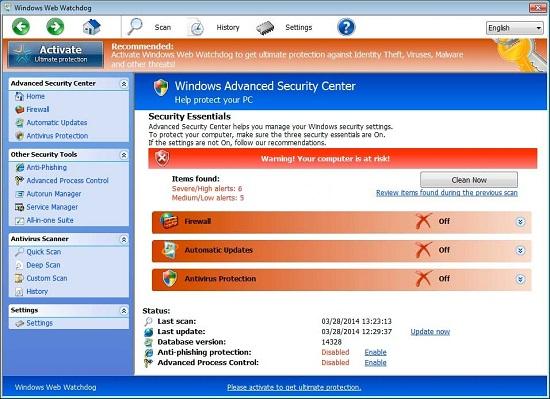 Windows Web Watchdog scam