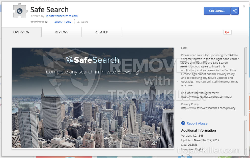 safewebsearches.com virus