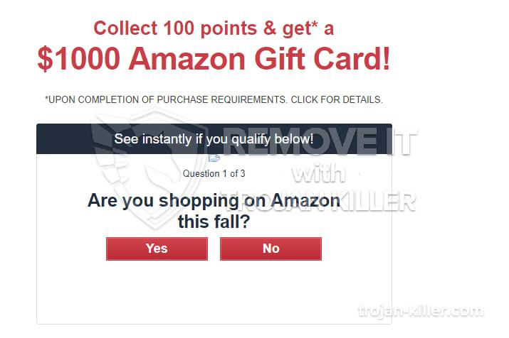 $1000 Amazon Gift Card virus