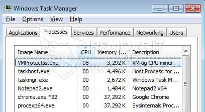 remove VMProtectss.exe virus