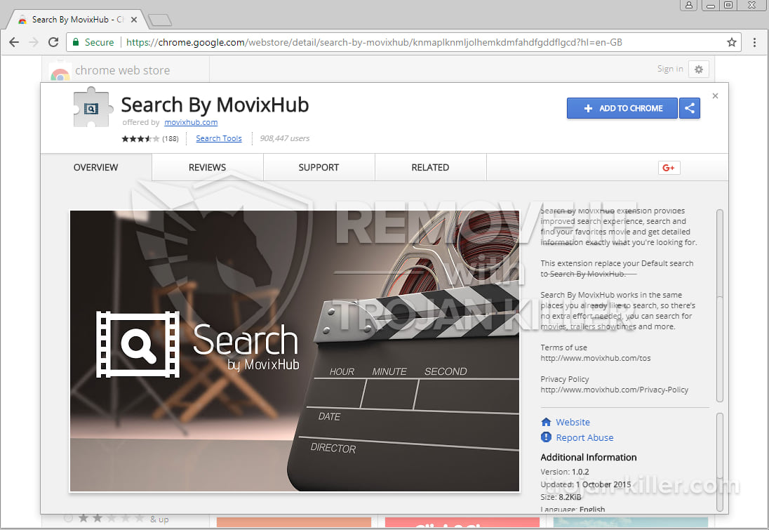 Search By MovixHub virus