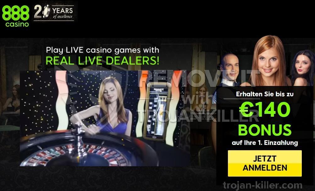 888 casino adware