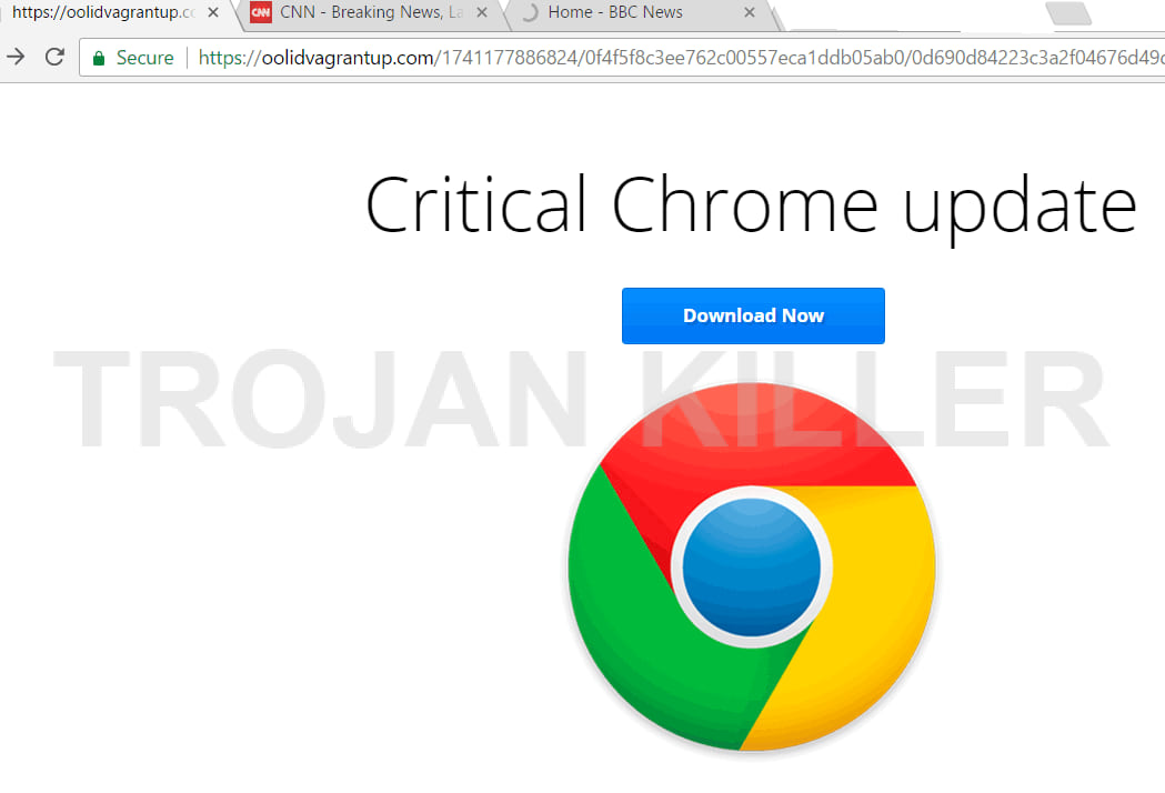 Critical chrome update virus