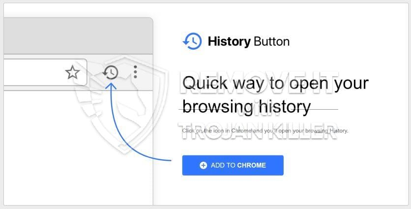 History Button virus