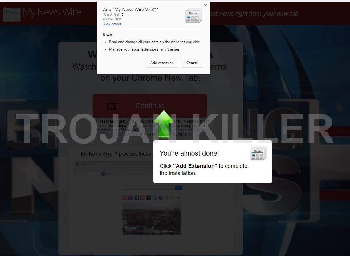 My News Wire V2.3 virus