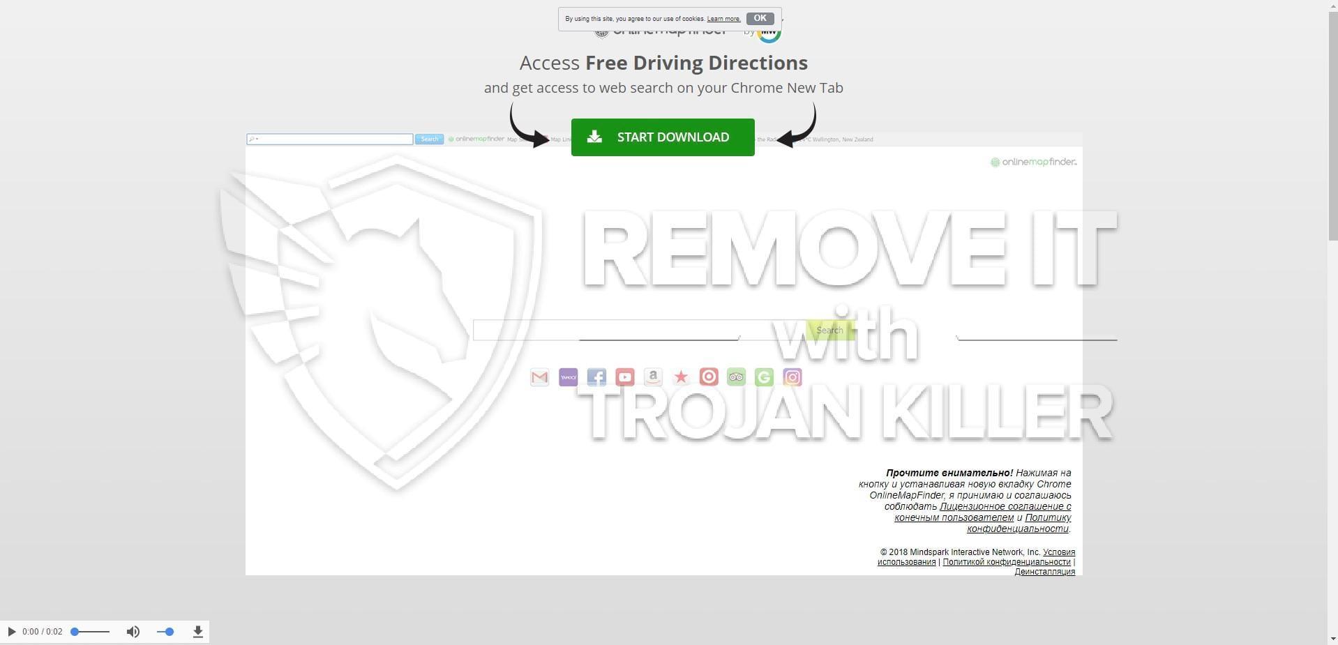 onlinemapfinder.com virus
