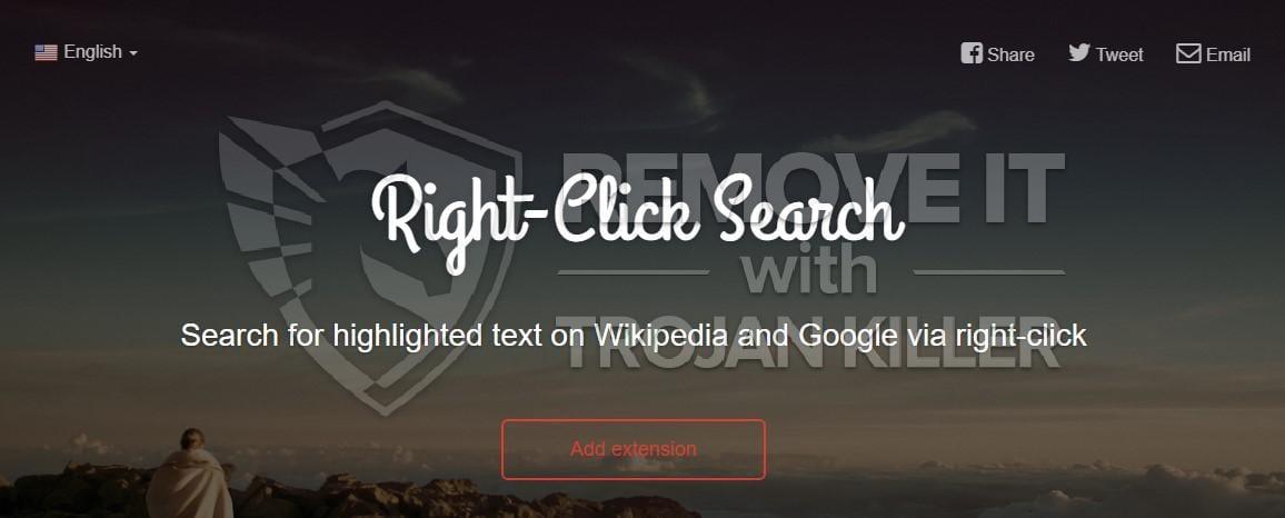 Right-Click Search virus