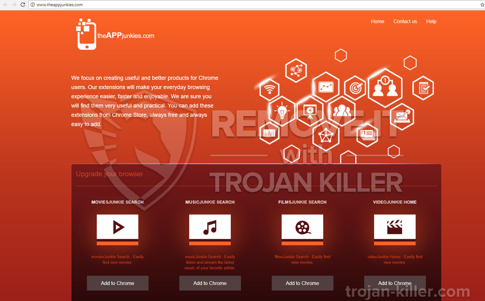 musicJunkie Search chrome extension