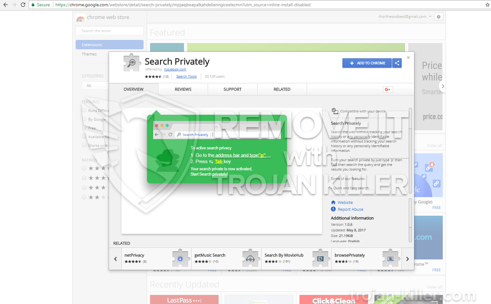 Search Privately virus