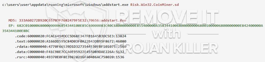 addstart.exe virus