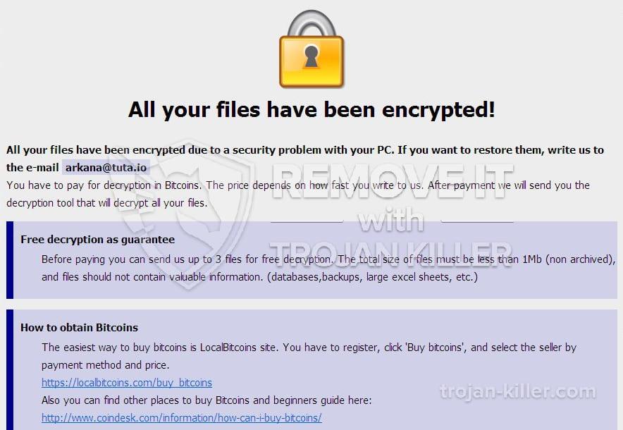 BTCWare virus